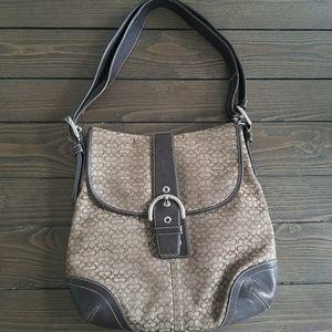 Coach shoulder bag brown
